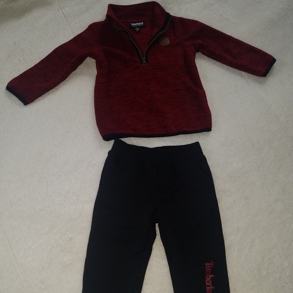 Timberland red/black outfit 24M